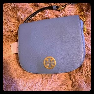 Tory Burch Everly Flap Leather Saddle Bag